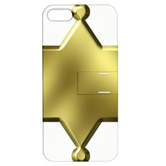 Sheriff Badge Clip Art Apple Iphone 5 Hardshell Case With Stand