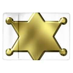 Sheriff Badge Clip Art Samsung Galaxy Tab 10 1  P7500 Flip Case