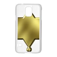 Sheriff Badge Clip Art Samsung Galaxy S5 Case (White) by Nexatart