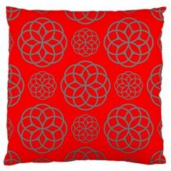 Geometric Circles Seamless Pattern Large Cushion Case (One Side)