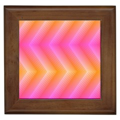 Pattern Background Pink Orange Framed Tiles