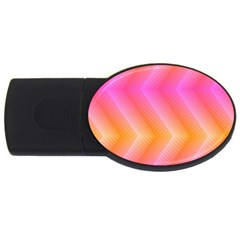 Pattern Background Pink Orange Usb Flash Drive Oval (4 Gb)