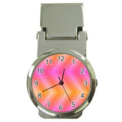 Pattern Background Pink Orange Money Clip Watches by Nexatart