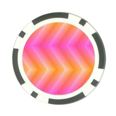 Pattern Background Pink Orange Poker Chip Card Guard