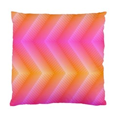 Pattern Background Pink Orange Standard Cushion Case (two Sides) by Nexatart