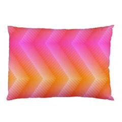 Pattern Background Pink Orange Pillow Case by Nexatart