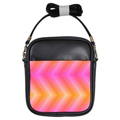 Pattern Background Pink Orange Girls Sling Bags by Nexatart