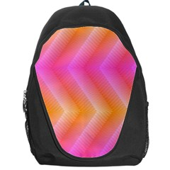 Pattern Background Pink Orange Backpack Bag