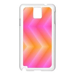 Pattern Background Pink Orange Samsung Galaxy Note 3 N9005 Case (white)