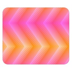 Pattern Background Pink Orange Double Sided Flano Blanket (small)