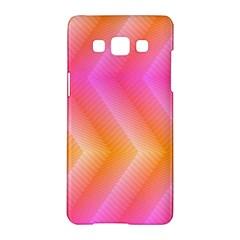 Pattern Background Pink Orange Samsung Galaxy A5 Hardshell Case  by Nexatart