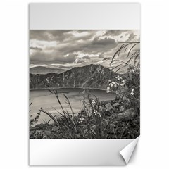 Quilotoa Lake Latacunga Ecuador Canvas 12  X 18   by dflcprints