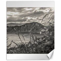 Quilotoa Lake Latacunga Ecuador Canvas 11  X 14   by dflcprints