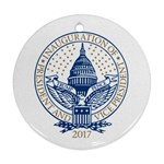 Presidential Inauguration Republican President Trump Pence 2017 Logo Round Ornament