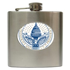 Presidential Inauguration Usa Republican President Trump Pence 2017 Logo Hip Flask (6 Oz)