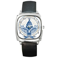 Presidential Inauguration Usa Republican President Trump Pence 2017 Logo Square Metal Watch