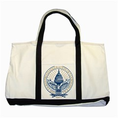 Presidential Inauguration USA Republican President Trump Pence 2017 Logo Two Tone Tote Bag by yoursparklingshop