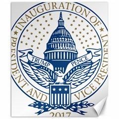 Presidential Inauguration Usa Republican President Trump Pence 2017 Logo Canvas 8  X 10