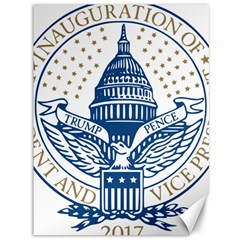 Presidential Inauguration Usa Republican President Trump Pence 2017 Logo Canvas 36  X 48