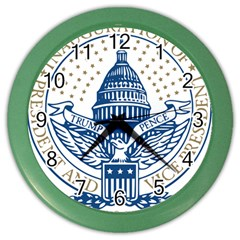 Presidential Inauguration Usa Republican President Trump Pence 2017 Logo Color Wall Clocks