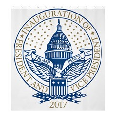 Presidential Inauguration USA Republican President Trump Pence 2017 Logo Shower Curtain 66  x 72  (Large)  by yoursparklingshop