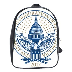 Presidential Inauguration Usa Republican President Trump Pence 2017 Logo School Bags(large)