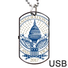 Presidential Inauguration USA Republican President Trump Pence 2017 Logo Dog Tag USB Flash (Two Sides) by yoursparklingshop