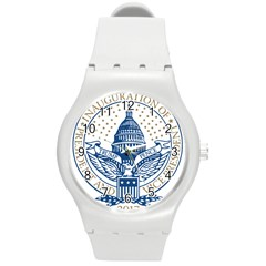 Presidential Inauguration Usa Republican President Trump Pence 2017 Logo Round Plastic Sport Watch (m)