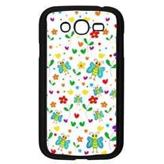 Cute Butterflies And Flowers Pattern Samsung Galaxy Grand Duos I9082 Case (black) by Valentinaart