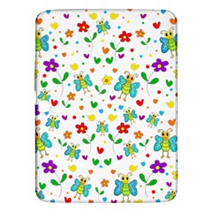 Cute Butterflies And Flowers Pattern Samsung Galaxy Tab 3 (10 1 ) P5200 Hardshell Case  by Valentinaart