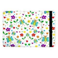 Cute Butterflies And Flowers Pattern Samsung Galaxy Tab Pro 10 1  Flip Case by Valentinaart