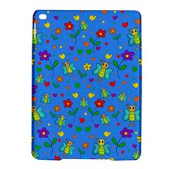 Cute Butterflies And Flowers Pattern   Blue Ipad Air 2 Hardshell Cases by Valentinaart
