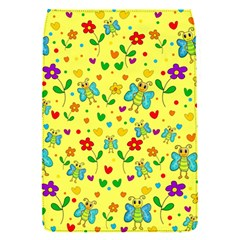 Cute Butterflies And Flowers   Yellow Flap Covers (s)  by Valentinaart