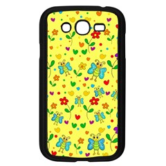 Cute Butterflies And Flowers   Yellow Samsung Galaxy Grand Duos I9082 Case (black) by Valentinaart