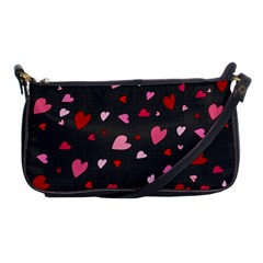 Hearts Pattern Shoulder Clutch Bags by Valentinaart