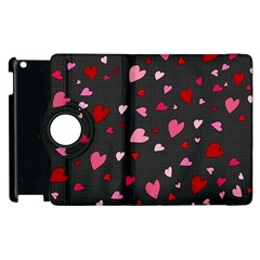 Hearts Pattern Apple Ipad 3/4 Flip 360 Case by Valentinaart