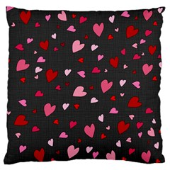 Hearts Pattern Standard Flano Cushion Case (one Side) by Valentinaart