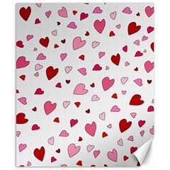 Valentine s Day Hearts Canvas 8  X 10  by Valentinaart