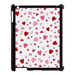 Valentine s Day Hearts Apple Ipad 3/4 Case (black) by Valentinaart