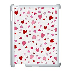 Valentine s Day Hearts Apple Ipad 3/4 Case (white) by Valentinaart