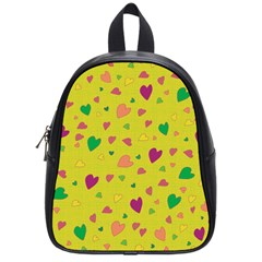Colorful Hearts School Bags (small)  by Valentinaart