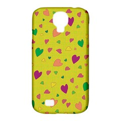 Colorful Hearts Samsung Galaxy S4 Classic Hardshell Case (pc+silicone) by Valentinaart
