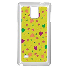 Colorful Hearts Samsung Galaxy Note 4 Case (white) by Valentinaart