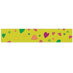 Colorful Hearts Flano Scarf (large) by Valentinaart
