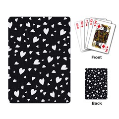 Black And White Hearts Pattern Playing Card