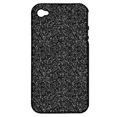 Gray Texture Apple Iphone 4/4s Hardshell Case (pc+silicone) by Valentinaart
