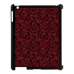 Red Coral Pattern Apple Ipad 3/4 Case (black) by Valentinaart