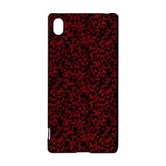 Red coral pattern Sony Xperia Z3+ by Valentinaart