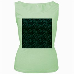 Blue coral pattern Women s Green Tank Top by Valentinaart