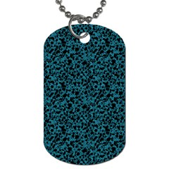Blue coral pattern Dog Tag (Two Sides)